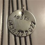 Stainless Steel Dog tag - name and number